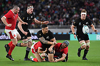 Rugby Union - 2019 Rugby World Cup - Bronze Final (Third Place Play-Off): New Zealand vs. Wales<br /> <br /> New Zealand's Sonny Bill Williams offloads to Ryan Crotty for their 5th try, at Tokyo Stadium, Tokyo.<br /> <br /> COLORSPORT/ASHLEY WESTERN