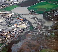 Flooding near Moss Landing, California, during an El Nino Year.
