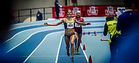 Friidrett<br /> Nordic Indoor Match<br /> 14.02.15  BÆRUM IDRETTSPARK<br /> Charlotta Fougberg vinner 3000 m <br /> Foto:  Eirik Førde