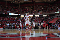 """31 January 2009: Lloyd Phillips.  The Illinois State University Redbirds join the Bradley Braves in a tie for 2nd place in """"The Valley"""" with a 69-65 win on Doug Collins Court inside Redbird Arena on the campus of Illinois State University in Normal Illinois"""