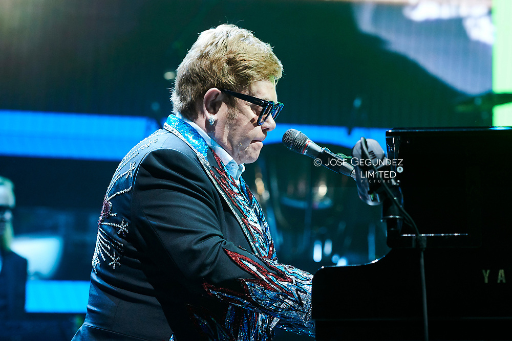 Sir Elton John during Farewell Yellow Brick Road, the final tour at WiZink Center on June 26, 2019 in Madrid, Spain