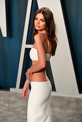 Emily Ratajkowski attending the Vanity Fair Oscar Party held at the Wallis Annenberg Center for the Performing Arts in Beverly Hills, Los Angeles, California, USA.