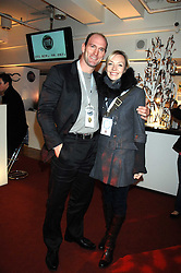 LAWRENCE DALLAGLIO and his wife ALICE at a party to celebrate the launch of the new Fiat 500 car held at the London Eye, Westminster Bridge Road, London on 21st January 2008.<br /><br />NON EXCLUSIVE - WORLD RIGHTS (EMBARGOED FOR PUBLICATION IN UK MAGAZINES UNTIL 1 MONTH AFTER CREATE DATE AND TIME) www.donfeatures.com  +44 (0) 7092 235465