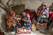Peruvian doll nativity scene for sale in Stein am Rhein, Switzerland, Europe.