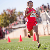 Shiprock Chieftain Lacey Howe sprint to a third-place finish in the girls 4A race of the New Mexico State meet at Rio Rancho High School Saturday