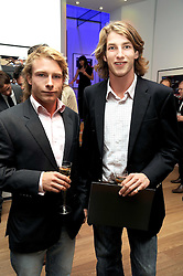 Left to right, TOM HUNT and FREDDIE HUNT sons of the late racing driver James Hunt at the TAG Heuer British Formula 1 Party at the Mall Galleries, London on 15th September 2008.