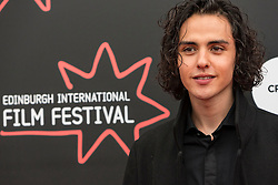 Photo-opportunity for The Dark Mile directed by Gary Love at the Edinburgh International Film Festival<br /> <br /> Pictured: Finlay MacMillan