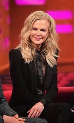 Nicole Kidman during the filming of the Graham Norton Show at BBC Studioworks 6 Television Centre, Wood Lane, London.