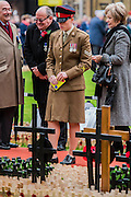 A time for happy and thoughtful remembrance - The Duke of Edinburgh, Life Member, Royal British Legion, accompanied by Prince Harry, visit the Field of Remembrance at Westminster Abbey  - 10 November 2016, London.