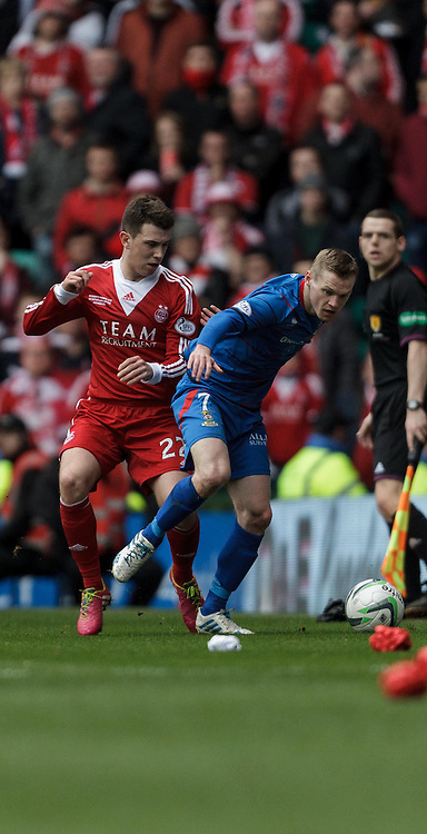 Scottish League Cup Final Aberdeen V Inverness CT at Parkhead on Sunday, 16th of March 2014, Aberdeen Scotland.<br /> Pictured: Ryan Jack and Billy Mckay<br /> (Photo Ross Johnston/Newsline Scotland)