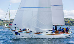 Pelle P Kip Regatta 2019 Day 1<br /> <br /> Light and bright conditions for the opening racing on the Clyde keelboat season<br /> GBR2496, Valhalla of Ashton , Alan Dunnet , CCC , Swan 36