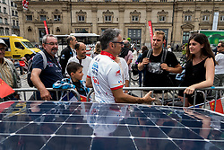 June 15, 2018 - Lyon, France - Departure of Sun Trip 2018 in Lyon, France, on June 15th, 2018. The race from Lyon will join the city of Guangzhu in China after a journey of 12000 km with only solar energy assistance. (Credit Image: © Nicolas Liponne/NurPhoto via ZUMA Press)