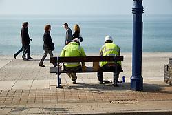 Aberystwyth promenade Wales