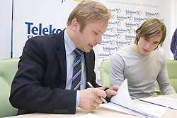 Peter Kukovica and Andrej Poljanec when Slovenian athletes and their coaches sign contracts with Athletic federation of Slovenia for year 2009,  in Ljubljana, Slovenia, on March 2, 2009. (Photo by Vid Ponikvar / Sportida)
