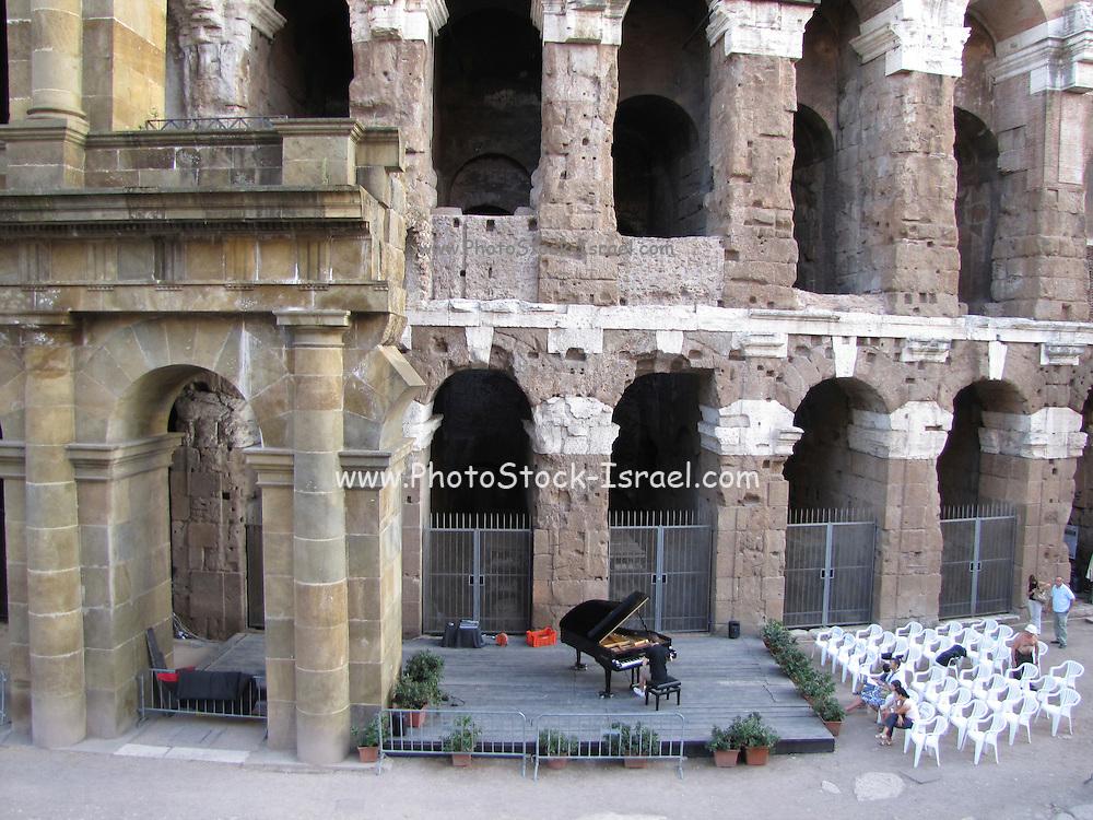 Italy, Rome, Pianist in Teatro di Marcello