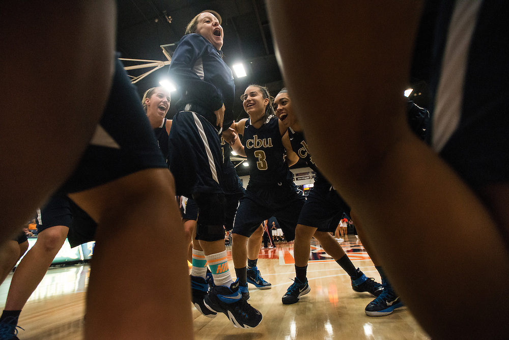 11/7/14 8:03:42 PM -- at California Baptist University rallies before their preseason game against California State, Fullerton in Fullerton, Calif., on Thursday, November 6, 2014. California Baptist won the game with a score of 65-56. (© Mischa Lopiano 2014)