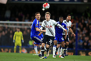 Christian Eriksen of Tottenham Hotspur © in action. Barclays Premier league match, Chelsea v Tottenham Hotspur at Stamford Bridge in London on Monday 2nd May 2016.<br /> pic by Andrew Orchard, Andrew Orchard sports photography.