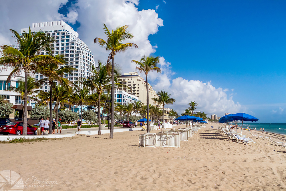 Along the beach at Ft. Lauderdale, Florida