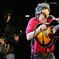 (PPAGE1) Asbury Park 4/20/2006  Bruce Springsteen rocks the crowd gathered in Convention Hall in preparation of an upcoming tour.  Michael J. Treola Staff Photographer.....>MJT