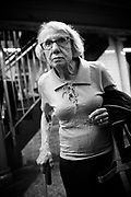 An elderly woman in subway, Manhattan. New York City, 21 june 2010. Christian Mantuano / OneShot