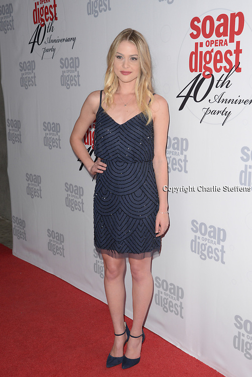 HAYLEY ERIN at Soap Opera Digest's 40th Anniversary party at The Argyle Hollywood in Los Angeles, California