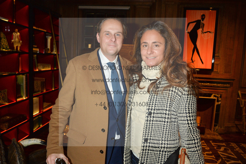 ***UK_MAGAZINES_OUT***<br /> LONDON, ENGLAND 30 NOVEMBER 2016: <br /> Left to right, Christophe at the launch of In The Spirit of Gstaad at Maison Assouline, Piccadilly, London hosted by Mandolyna Theodoracopulos and Homera Sahni England. 30 November 2016.