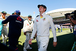 Australia's Steve Smith celebrates victory during day five of the Ashes Test match at the Adelaide Oval, Adelaide.