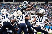 December 11, 2016: Carolina Panthers vs San Diego Chargers. Jonathan Stewart scores a touchdown