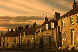 July 21, 2019 - Houses At Dusk, Thaornton Le Dale, Yorkshire, England (Credit Image: © John Short/Design Pics via ZUMA Wire)
