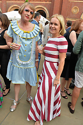 Grayson Perry and Mariella Frostrup at the V&A Summer Party 2017 held at the Victoria & Albert Museum, London England. 21 June 2017.<br /> Photo by Dominic O'Neill/SilverHub 0203 174 1069 sales@silverhubmedia.com