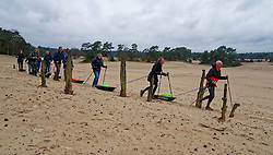 BvdGF in training for the Camino 2020 at the Soesterduinen on March 08, 2020 in Soest, Netherlands