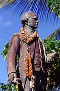 Captain Cook Statue, Waimea, Kauai, Hawaii<br />