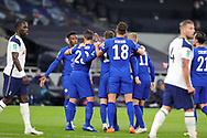 Goal 0-1 Chelsea forward Timo Werner (11) scores a goal and celebrates with his team mates during the EFL Cup Fourth Round match between Tottenham Hotspur and Chelsea at Tottenham Hotspur Stadium, London, United Kingdom on 29 September 2020.