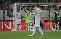 MOSCOW, RUSSIA - OCTOBER 27: Manuel Neuer and FC Bayern Muenchen players appeal during the UEFA Champions League Group A stage match between Lokomotiv Moskva and FC Bayern Muenchen at RZD Arena on October 27, 2020 in Moscow, Russia. (Photo by MB Media)