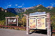 Interpretive signs above Ouray, Colorado