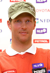 Slovenian skier Andrej Jerman at press conference of Slovenian Ski Federation one day after he won during Men's Downhill of the Audi FIS Ski World Cup 2009/10 - Bormio 2009, on December 30, 2009, in SZS, Ljubljana, Slovenia.  (Photo by Vid Ponikvar / Sportida)