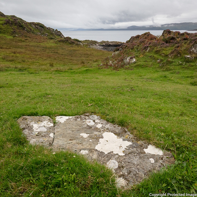 Craignish Cist (ancient stone coffin box), Argyll, Scotland.