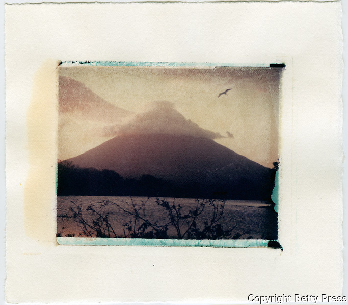 Conception volcano on the island of Ometepe, Nicaragua<br /> Image size 4x5, Matted 12x10 Edition of 25 <br /> Archival Pigment Print