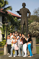 Statue of Jose Rizal who was the most prominent advocate for reforms in the Philippines during the Spanish colonial era. He is considered a national hero and the anniversary of Rizal's death is commemorated as a Philippine holiday called Rizal Day. Rizal's military trial and execution made him a martyr of the Philippine Revolution.
