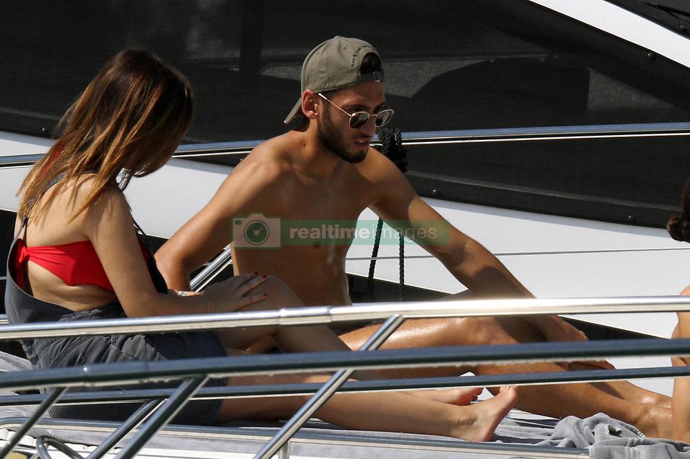 Swiss player Ricardo Rodriguez of Milan AC enjoying holidays in Portofino with wife and german colleague Hakan Calhanoglu. 06 Aug 2017 Pictured: Ricardo Rodriguez. Photo credit: Ceres / MEGA TheMegaAgency.com +1 888 505 6342