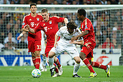 Champions League semi final second leg soccer match between Real Madrid and FC Bayern Munich at the Santiago Bernabeu stadium in Spain - <br /> MADRID 25/04/2012<br /> ESTADIO SANTIAGO BERNABEU.<br /> half final, Halbfinale, Semifinale,  CHAMPIONS LEAGUE<br /> REAL MADRID 2 - BAYERN 1<br /> picture: GRANERO. NEUER.- fee liable image, copyright © ATP QUEEN INTERNACIONAL<br /> <br /> Real MADRID vs Fc BAYERN Match 2:1 und 3:1 im Elfmeterschieflen - and 3:1 in penalty shooting - Queen photographer Fernando ALVAREZ