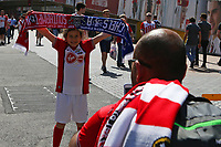 Football - 2017 / 2018 FA Cup - Semi Final: Chelsea vs. Southampton<br /> <br /> A young Southampton fan has her picture taken at Wembley Stadium <br /> <br /> COLORSPORT/SHAUN BOGGUST