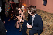 The Man Booker Best Of Beryl Prize, The Union, 50 Greek Street, London, 19 April 2011. Party celebrates special prize created by the Booker Foundation in honour of the late Beryl Bainbridge who died in July 2010.   -DO NOT ARCHIVE-© Copyright Photograph by Dafydd Jones. 248 Clapham Rd. London SW9 0PZ. Tel 0207 820 0771. www.dafjones.com. LAURA HUMBLE; BERTIE ESME RUSSELL, The Man Booker Best Of Beryl Prize, The Union, 50 Greek Street, London, 19 April 2011. Party celebrates special prize created by the Booker Foundation in honour of the late Beryl Bainbridge who died in July 2010.   -DO NOT ARCHIVE-© Copyright Photograph by Dafydd Jones. 248 Clapham Rd. London SW9 0PZ. Tel 0207 820 0771. www.dafjones.com.