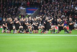 November 10, 2018 - London, London, United Kingdom - England face the All Blacks at Twickenham Stadium during the Quilter Internationals 2018. England         tackles New Zealand  (Credit Image: © Andrew Parsons/i-Images via ZUMA Press)