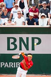 June 1, 2018 - Paris, U.S. - PARIS, FRANCE  - JUNE 01 JUN 01: KEI NISHIKORI (JPN) during the French Open on June 01, 2018 at Stade Roland-Garros in Paris, France. (Photo by Chaz Niell/Icon Sportswire) (Credit Image: © Chaz Niell/Icon SMI via ZUMA Press)