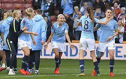 February 23, 2019 - Sheffield, England, United Kingdom - A delighted Steph Houghton celebrates their win during the  FA Women's Continental League Cup Final  between Arsenal and Manchester City Women at the Bramall Lane Football Ground, Sheffield United FC Sheffield, Saturday 23rd February. (Credit Image: © Action Foto Sport/NurPhoto via ZUMA Press)