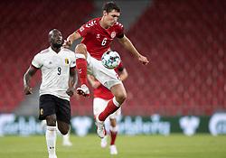 Andreas Christensen (Danmark) under UEFA Nations League kampen mellem Danmark og Belgien den 5. september 2020 i Parken, København (Foto: Claus Birch).
