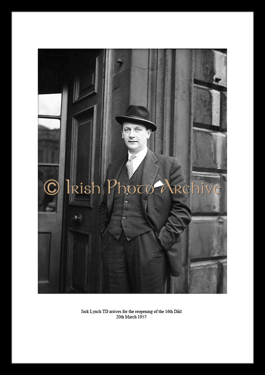 Jack Lynch TD arrives for the reopening of the 16th Dáil<br />