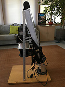 Side view, Omega D2 Enlarger with a meter stick for comparison/perspective.