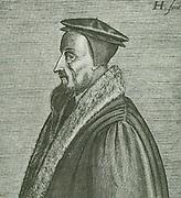 John Calvin (1509-1564) the great French reformer, is renowned for his work 'The Institutes of the Christian Religion'.  At Geneva he ruled as a dictator and brought the States under control of the Church.  In France, the Netherlands and Scotland he had many followers.